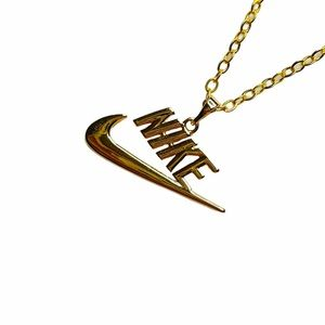 Nike Gold Spellout Necklace